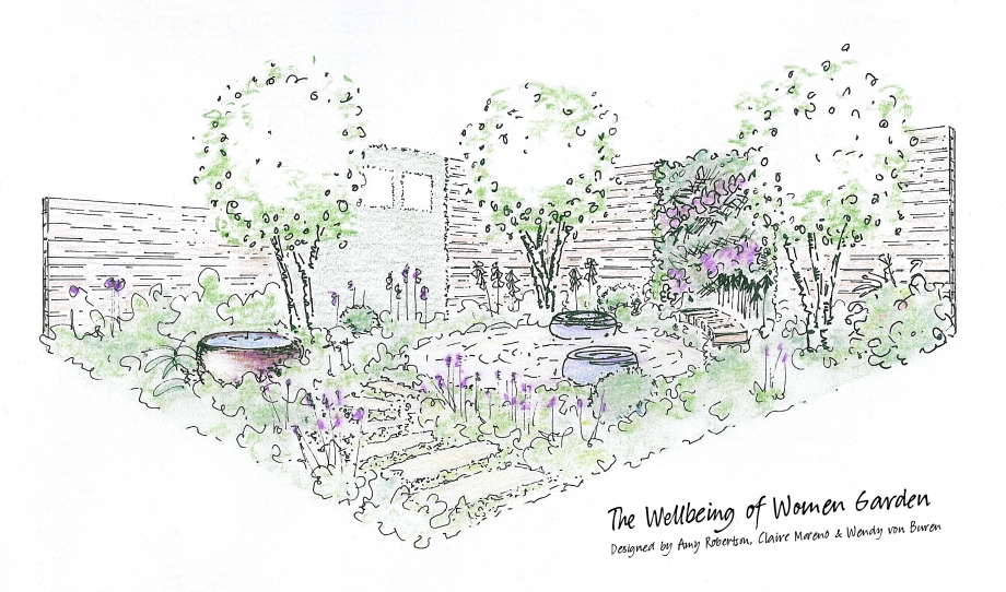 Wellbeing of Women Garden Hampton Court 2015